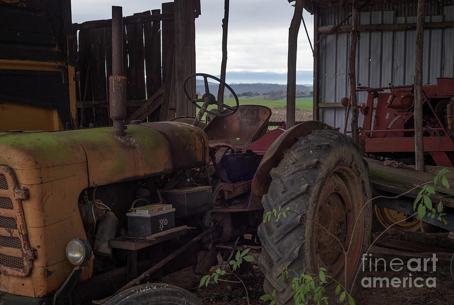Vintage Tractor, South France by Perry Rodriguez