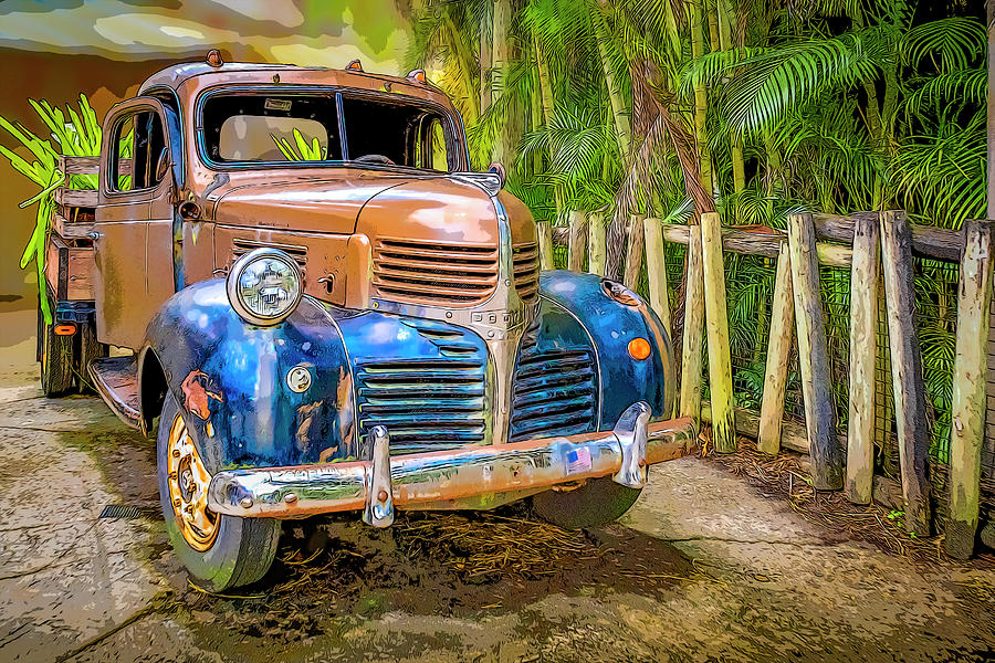 Vintage Truck in the tropics by Manny DaCunha