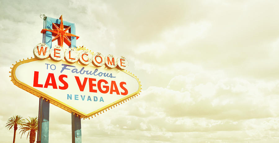 Vintage Welcome To Fabulous Las Vegas Photograph by Powerofforever