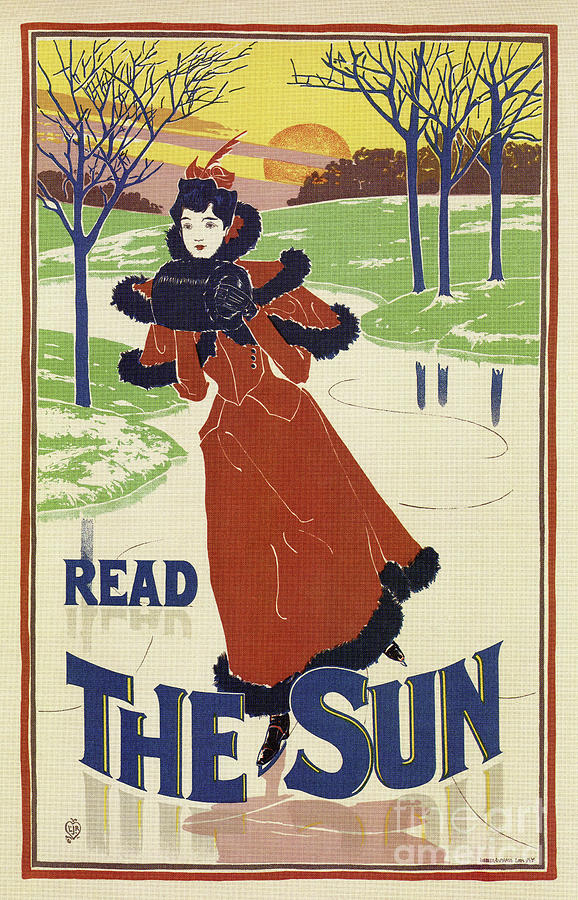 Vintage Winter 1896 women fashion The Sun by Aapshop