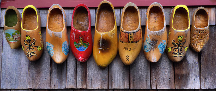 Vintage Wooden Shoes by David Kay