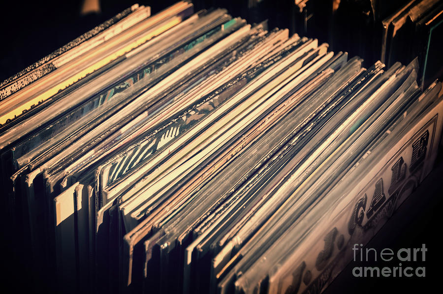 Music Photograph - Vinyl Records by Delphimages Photo Creations