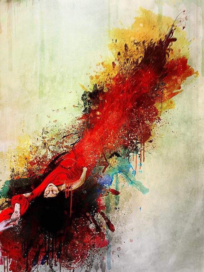 Surreal Digital Art - Violently Happy by Mario Sanchez Nevado