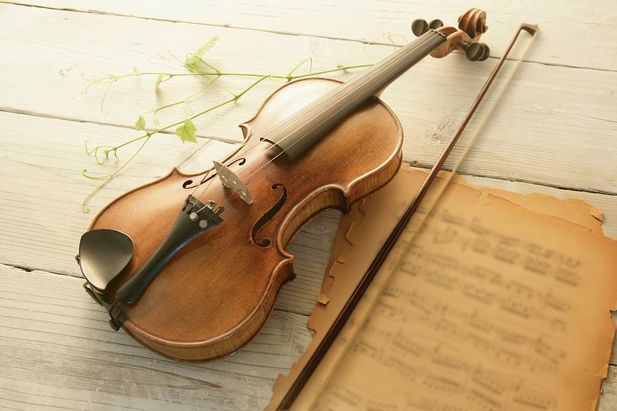 Violin And Music Sheet Photograph by Image Work/amanaimagesrf