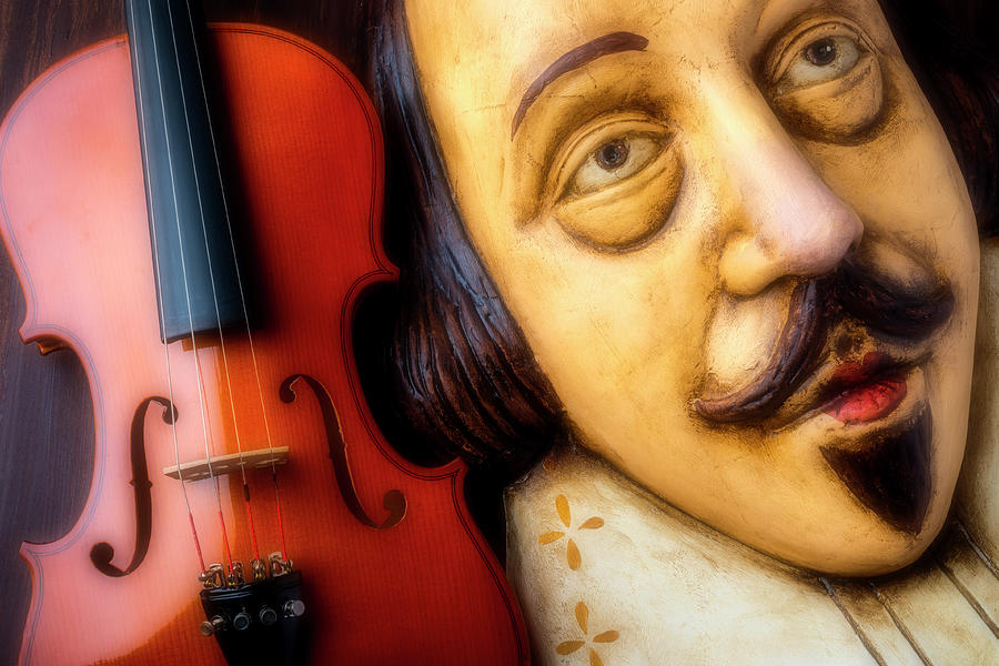 Violin Photograph - Violin And Shakespeare  by Garry Gay