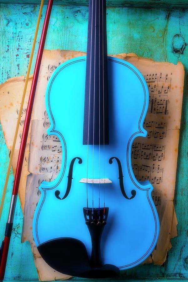 Violin Photograph - Violin Blues by Garry Gay