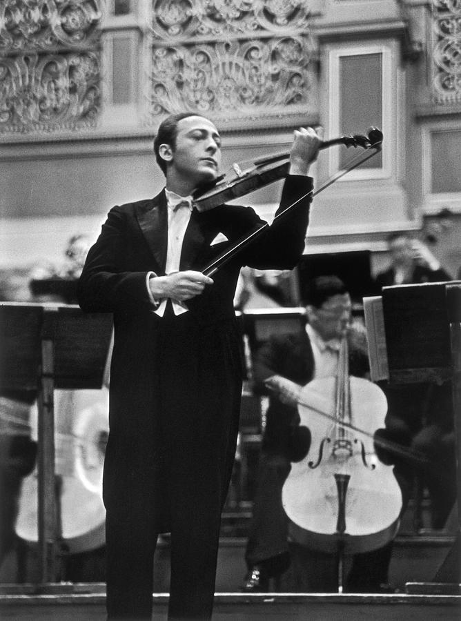 Violin Virtuoso Jascha Heifetz Standing