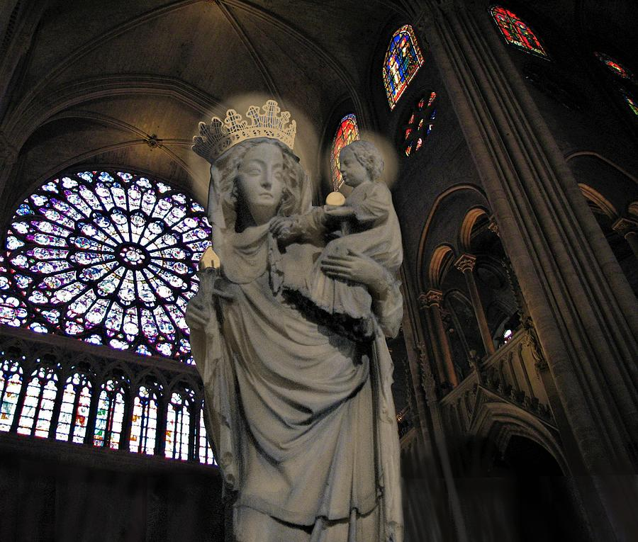 Virgin and Christ Notre Dame  by Joan Stratton