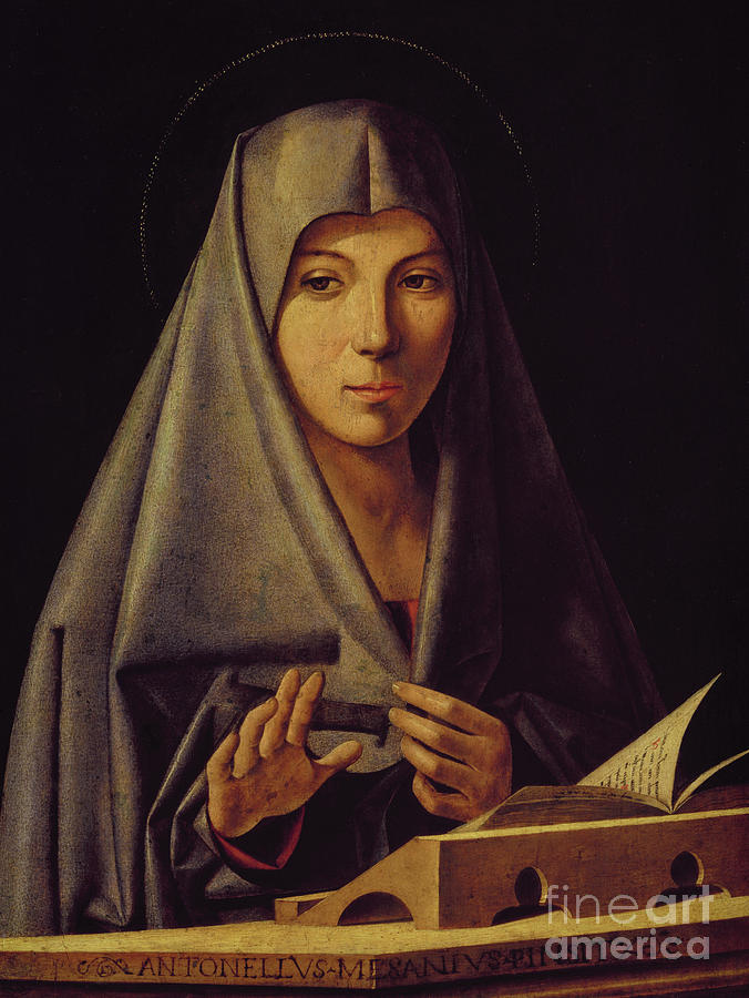 Madonna Painting - Virgin Annunciate By Messina by Antonello da Messina