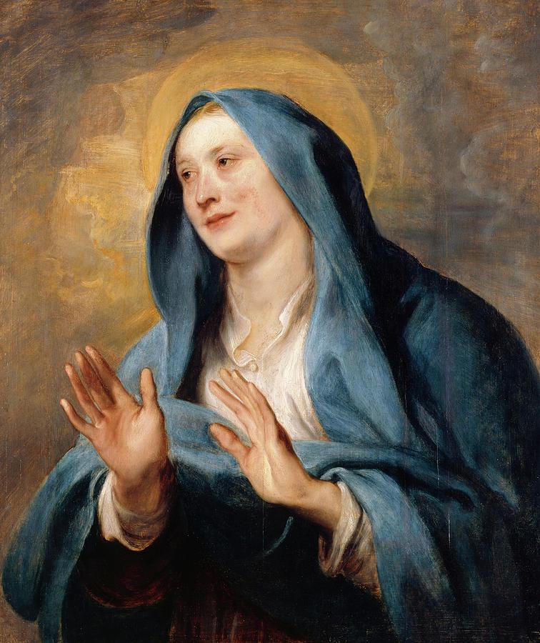 Anton Van Dyck Painting - Virgin Mary by Anton van Dyck