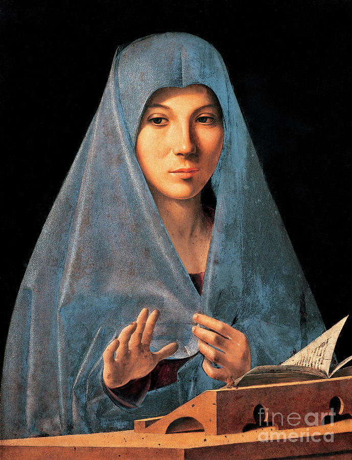 Madonna Painting - Virgin Of Annunciation Painting By Antonello Di Antonio Dit Antonello Da Messina by Antonello da Messina