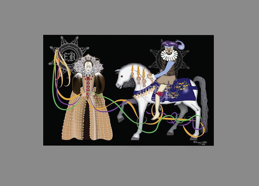 Elizabeth Digital Art - Virgin Queen by Nancy Cahill
