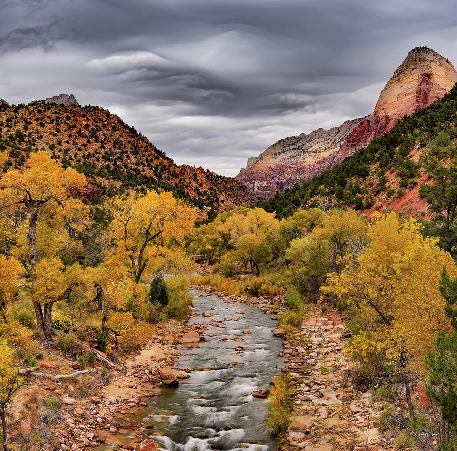 Autumn Photograph - Virgin River Fall by Leland D Howard