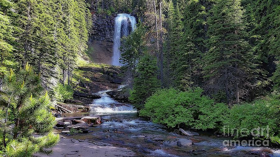 Virginia Falls - Glacier National Park by Joseph Hendrix
