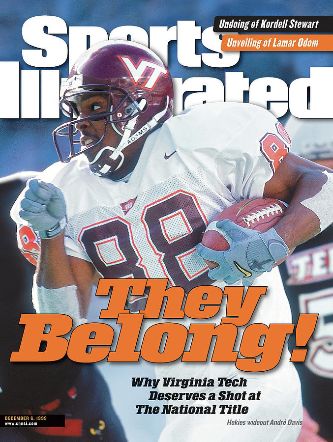 Virginia Tech Andre Davis... Sports Illustrated Cover Photograph by Sports Illustrated