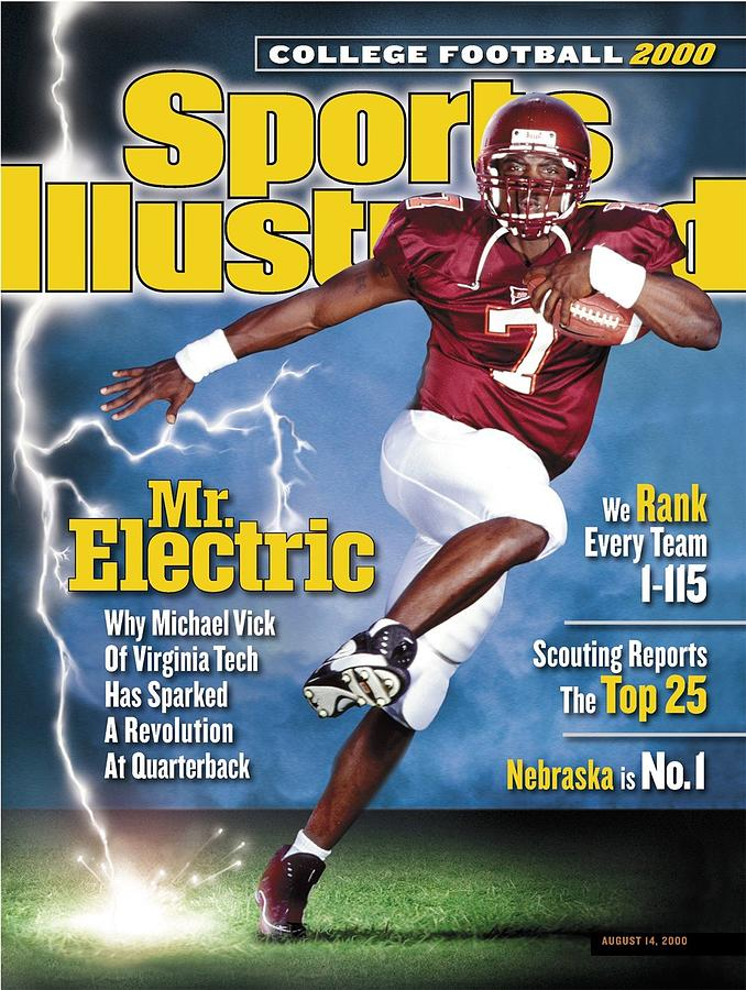 Virginia Tech Michael Vick Sports Illustrated Cover Photograph by Sports Illustrated