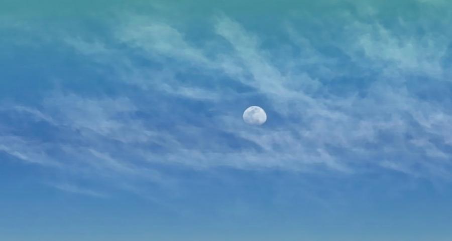 Virgo Moon in Clouds by Judy Kennedy