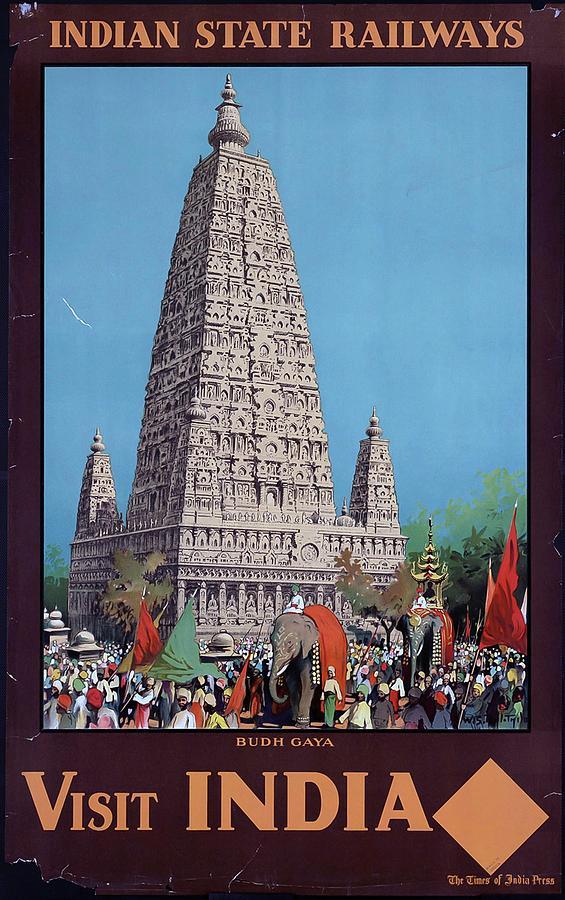 Visit Digital Art - Visit India by Vintage Arts