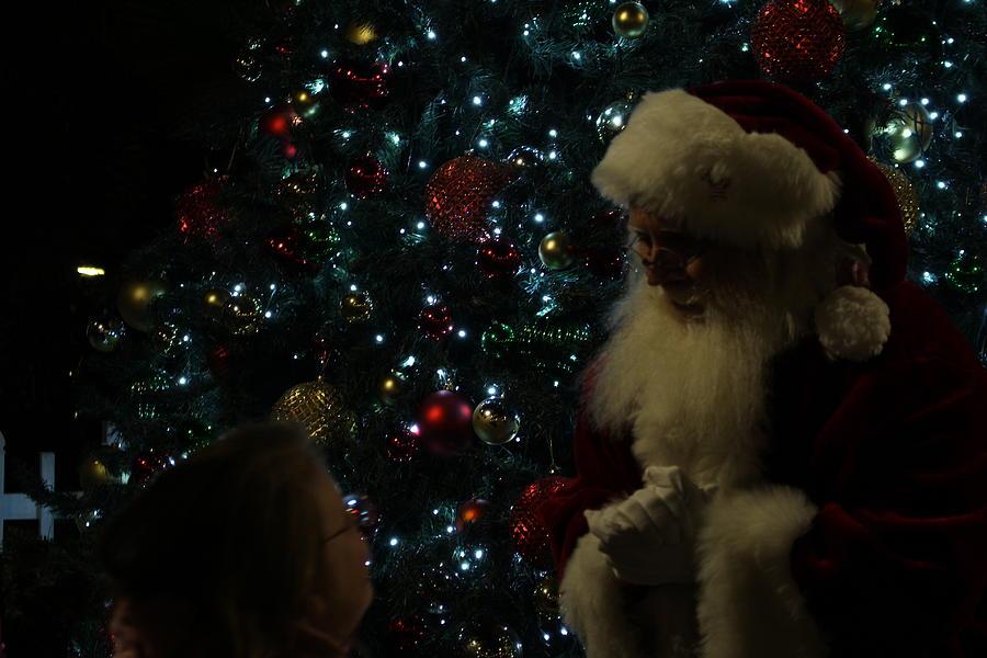 Santa Photograph - Visit With Santa by Colleen Cornelius