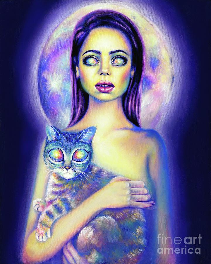 Alien Painting - Visitors by Olesya Umantsiva