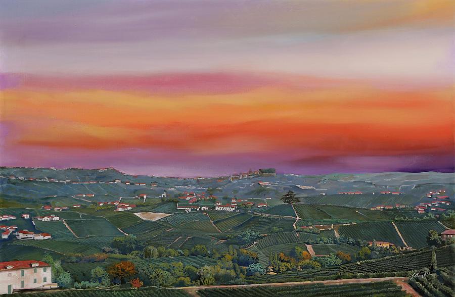 Vista Da Castiglione Falletto Painting