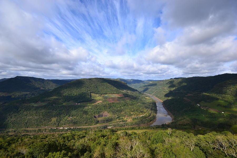 Scenic Photograph - Vista Do Vale Do Rio Das Antas by Jair Pauletto