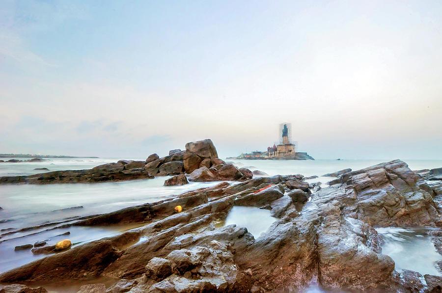 Vivekanandar Rock & Thiruvalluvar Photograph by Yesmk Photography