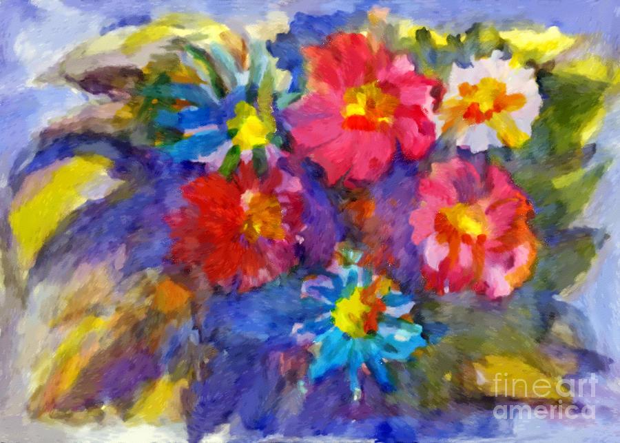 Vivid flowers in the garden by Irina Dobrotsvet