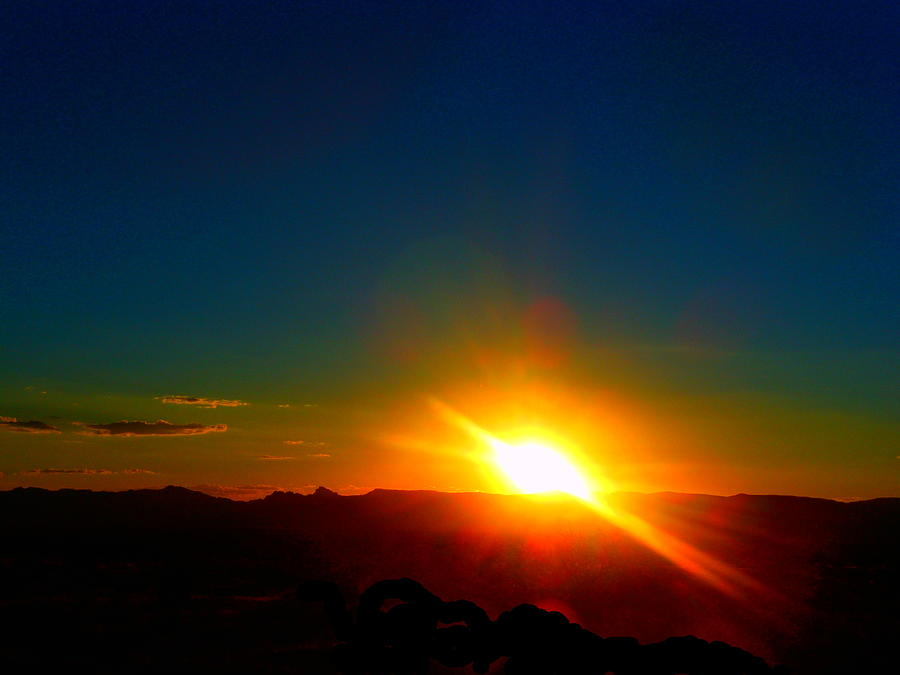 New Photograph - Vivid Sunset In Golden Valley Arizona by James Welch