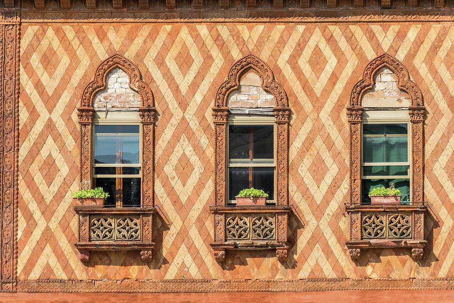 Vivid Venetian Accents - Three Fantabulous Byzantine Windows by Georgia Mizuleva