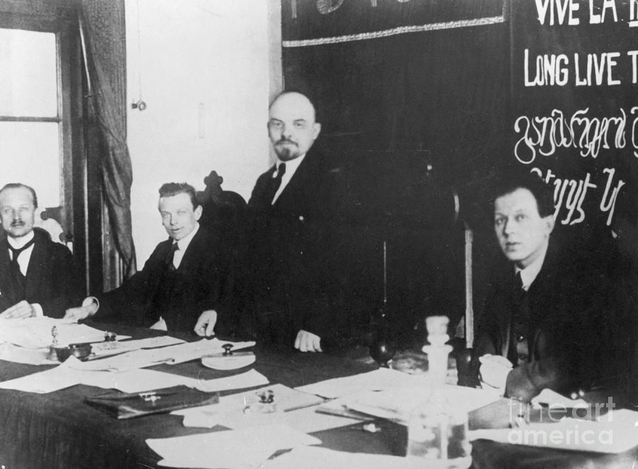 Lenin durante el Primer Congreso de la III Internacional