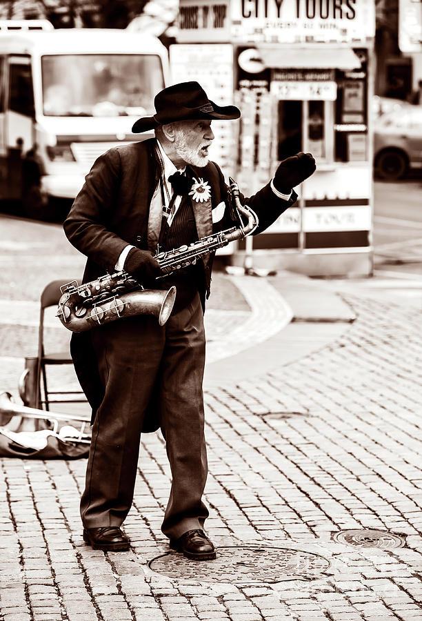 Performer Photograph - Vladimir Pinta Sings In Prague by John Rizzuto