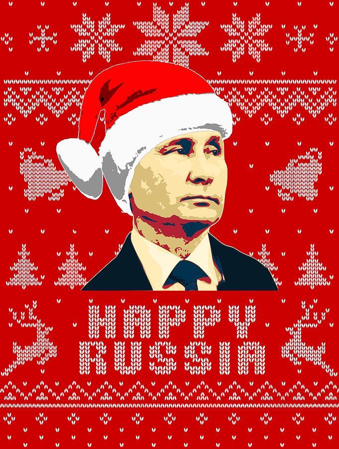 Santa Digital Art - Vladimir Putin Happy Russia by Filip Hellman