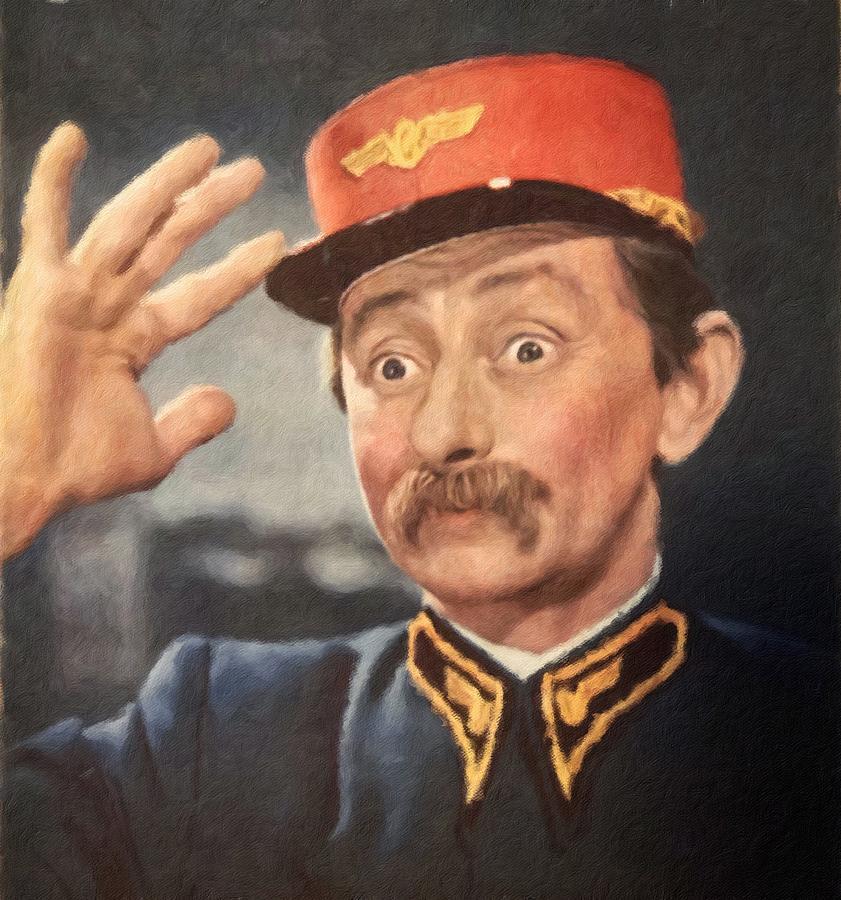 Vlasta Burian, Portrait of Czechoslovak actor by Vincent Monozlay