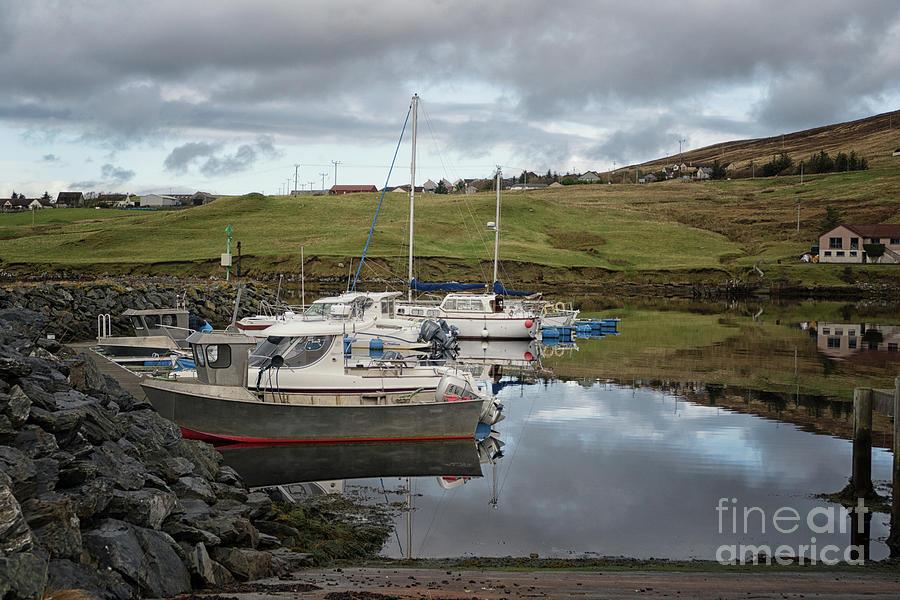 Voe Harbour Shetland by Lynn Bolt