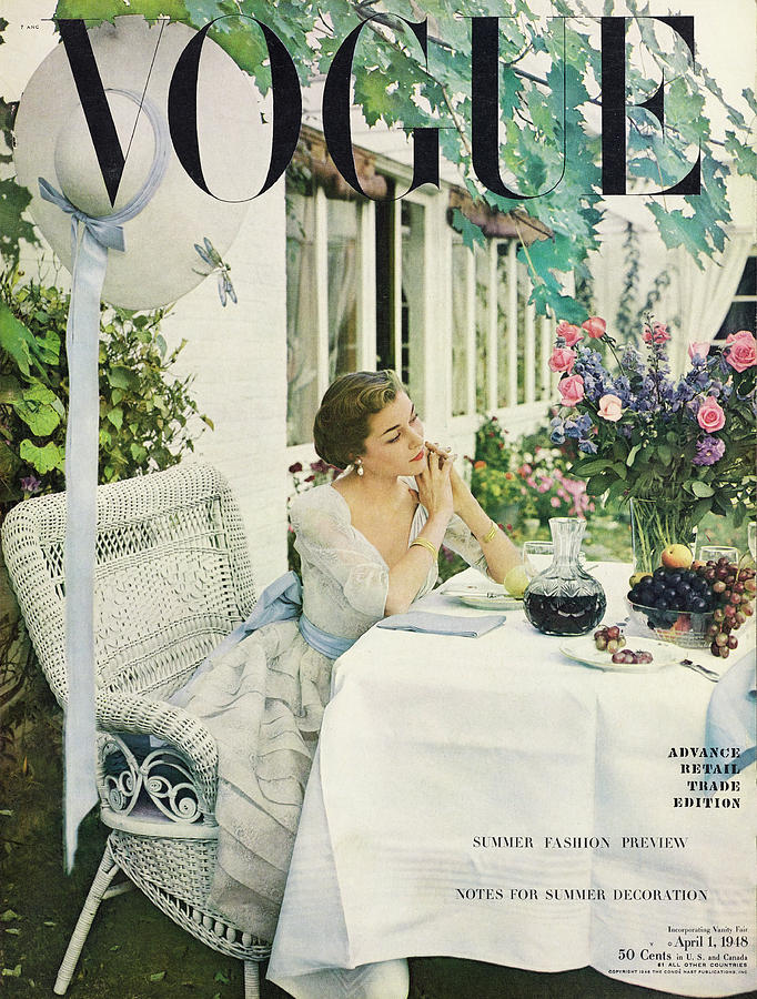 Vogue, April 01, 1948 Photograph by Horst P Horst
