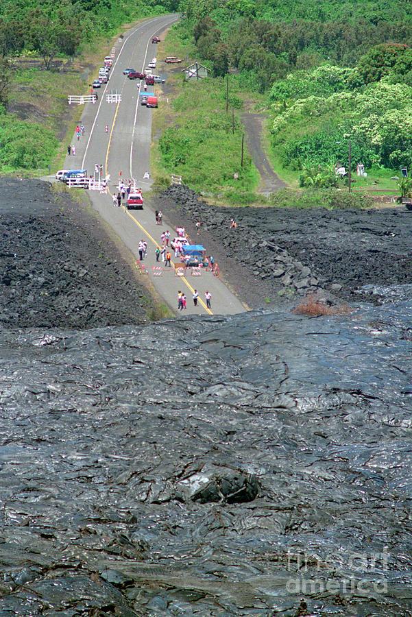 Volcanic Lava On Highway 130 Photograph by Bettmann