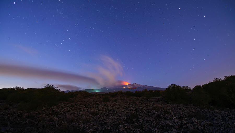 Volcano Etna eruption by Mirko Chessari