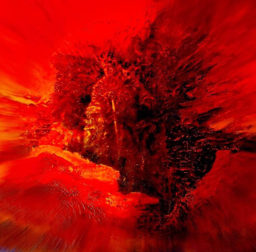 Volcano-god of fire by Henryk Gorecki
