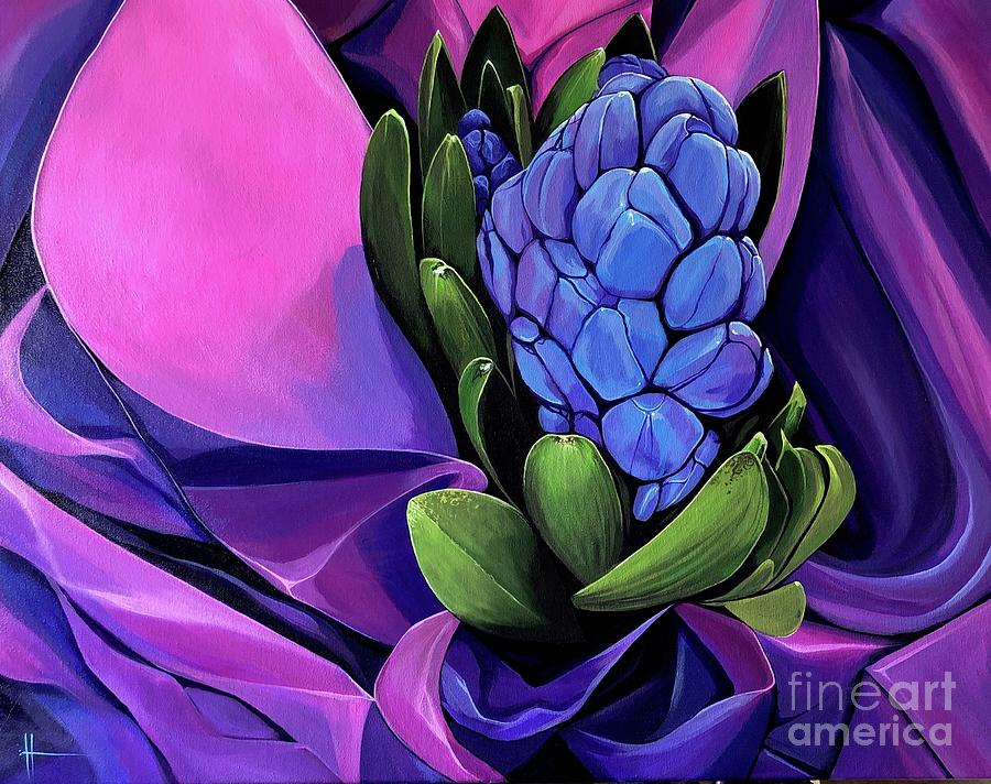 Hyacinth Painting - Voluptuous by Hunter Jay
