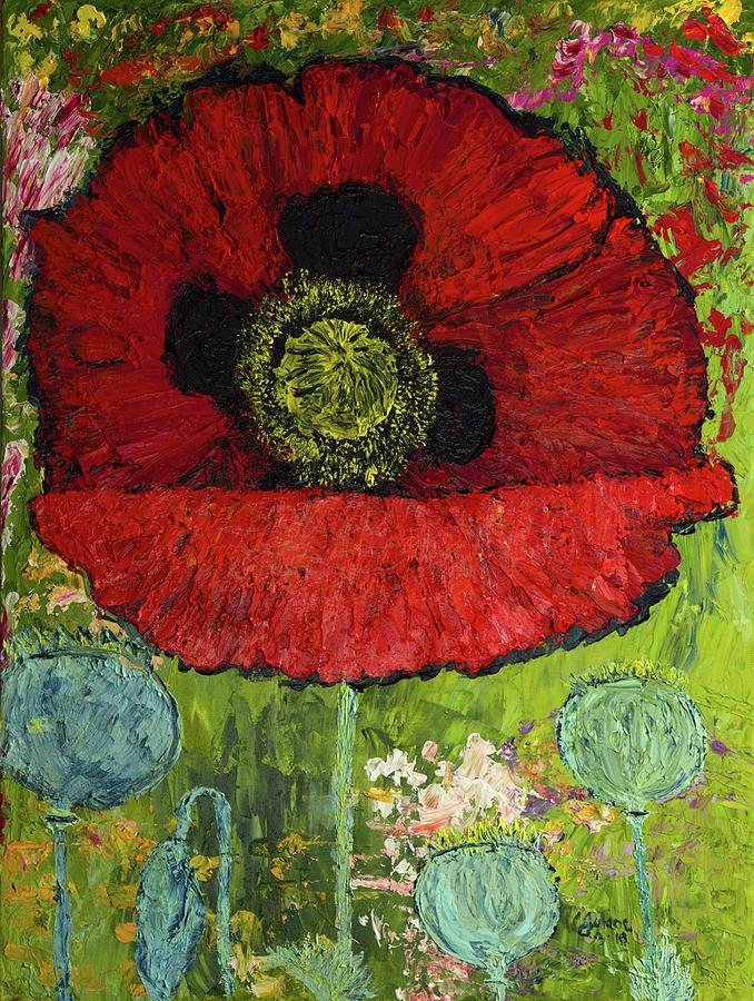 Voluptuous Red Poppy by Julene Franki