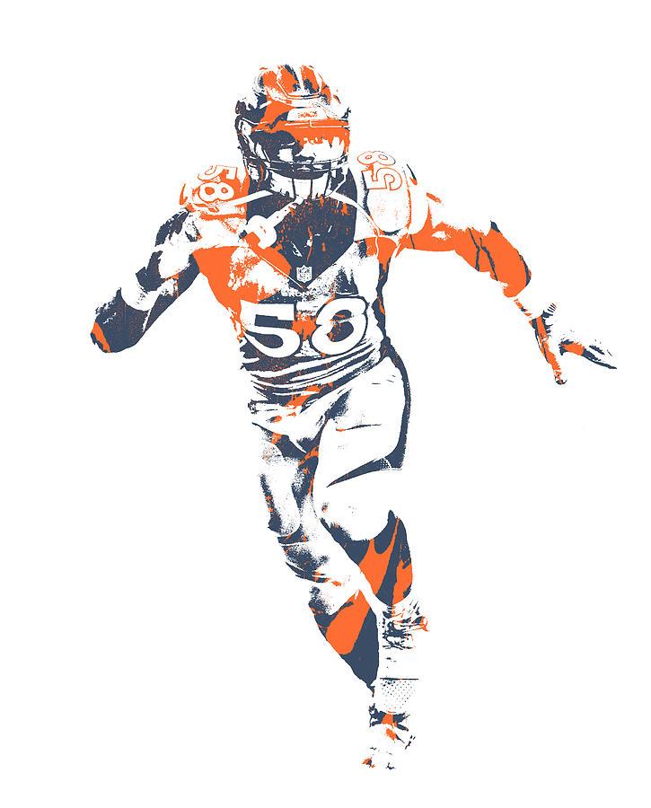 Von Miller Mixed Media - Von Miller Denver Broncos Pixel Art 76 by Joe Hamilton