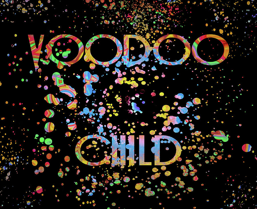 Voodoo Child Mixed Media - Voodoo Child Psychedelic by Dan Sproul