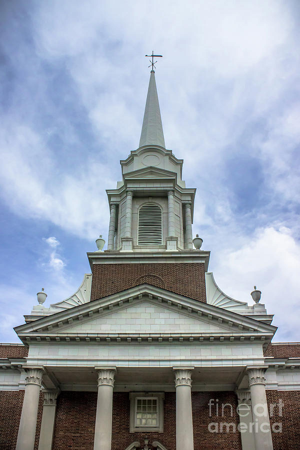 Voorhees Chapel in the Clouds by Colleen Kammerer