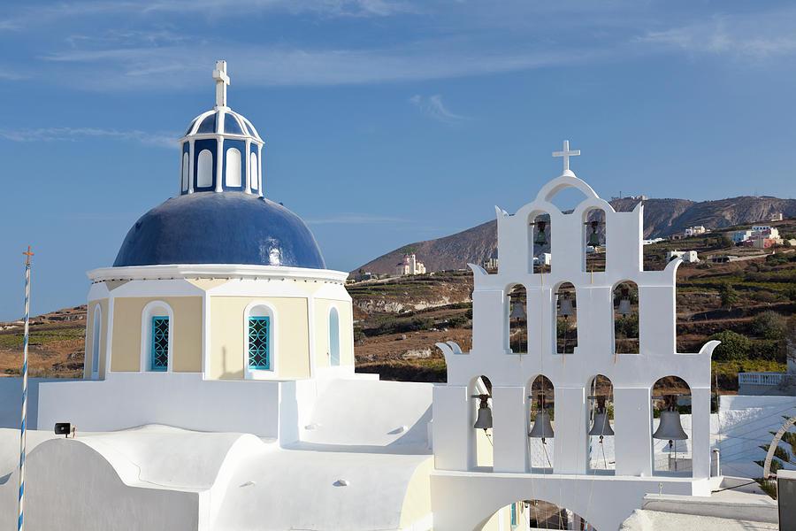 Vothonas Church, Santorini Photograph by Michaelutech