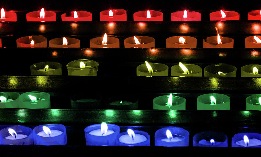 Votive Candles for Gay Pride Month by Darryl Brooks