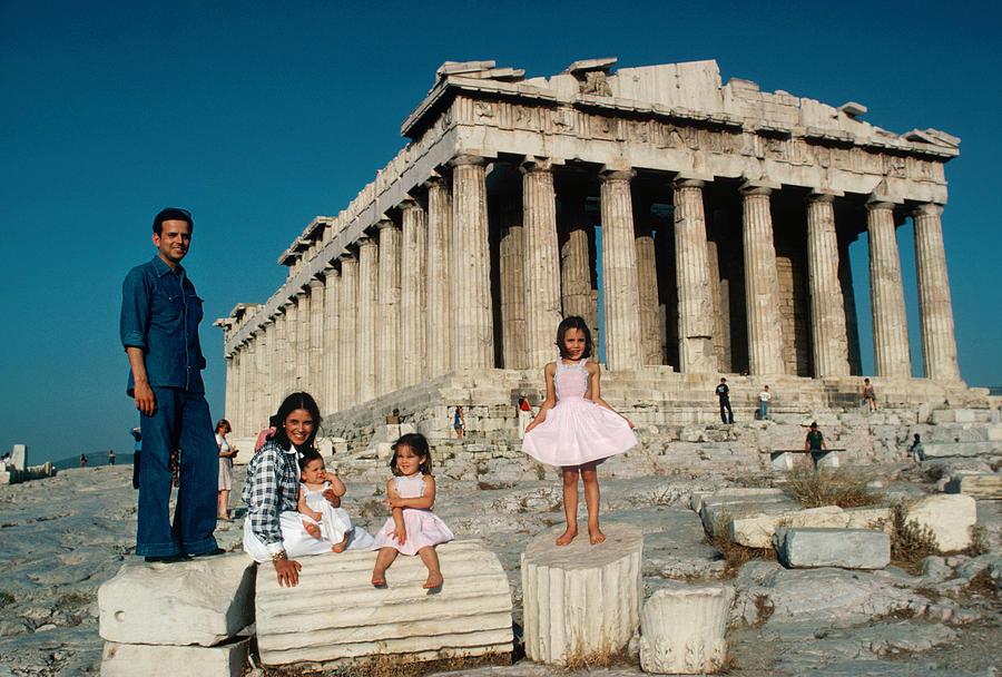 Vourekas-petalas Family Photograph by Slim Aarons