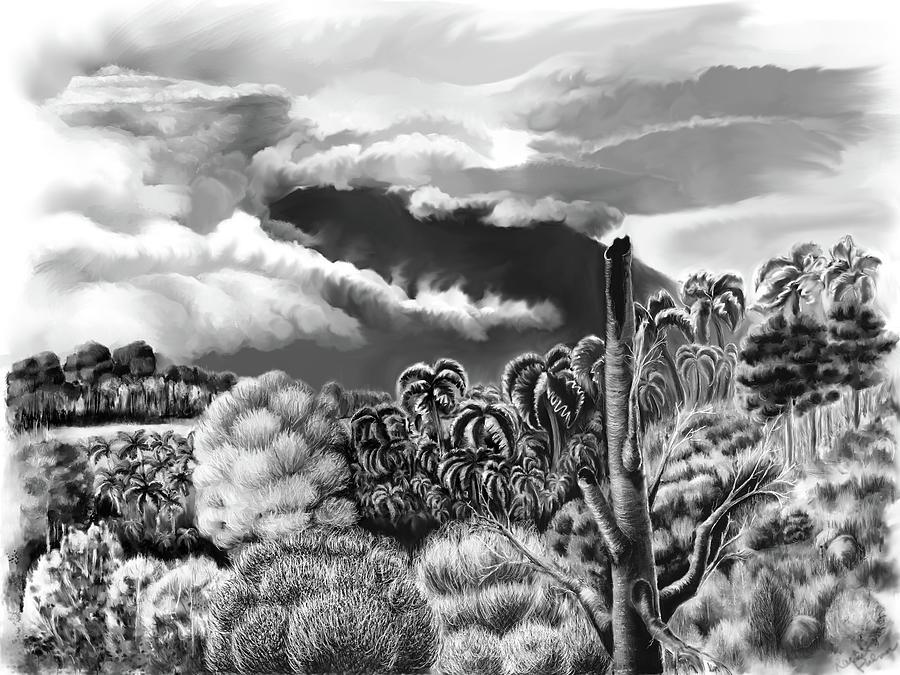 Landscape Digital Art - Vulcan at Rest  by Rachel Palmer