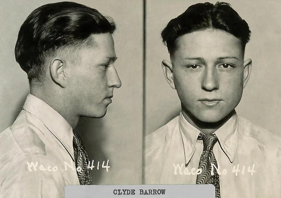 Waco Texas Mugshot - Clyde Barrow C  1930 by Daniel Hagerman