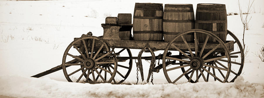 Wagon and Barrels by Whispering Peaks Photography